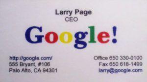 tarjeta comercial de google