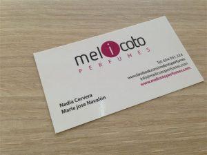 tarjetas de presentacion perfumerias