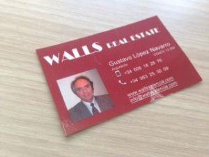 tarjeta de visita inmobiliaria
