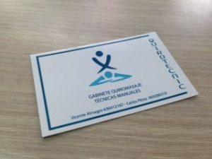 Tarjetas de visita para masajistas